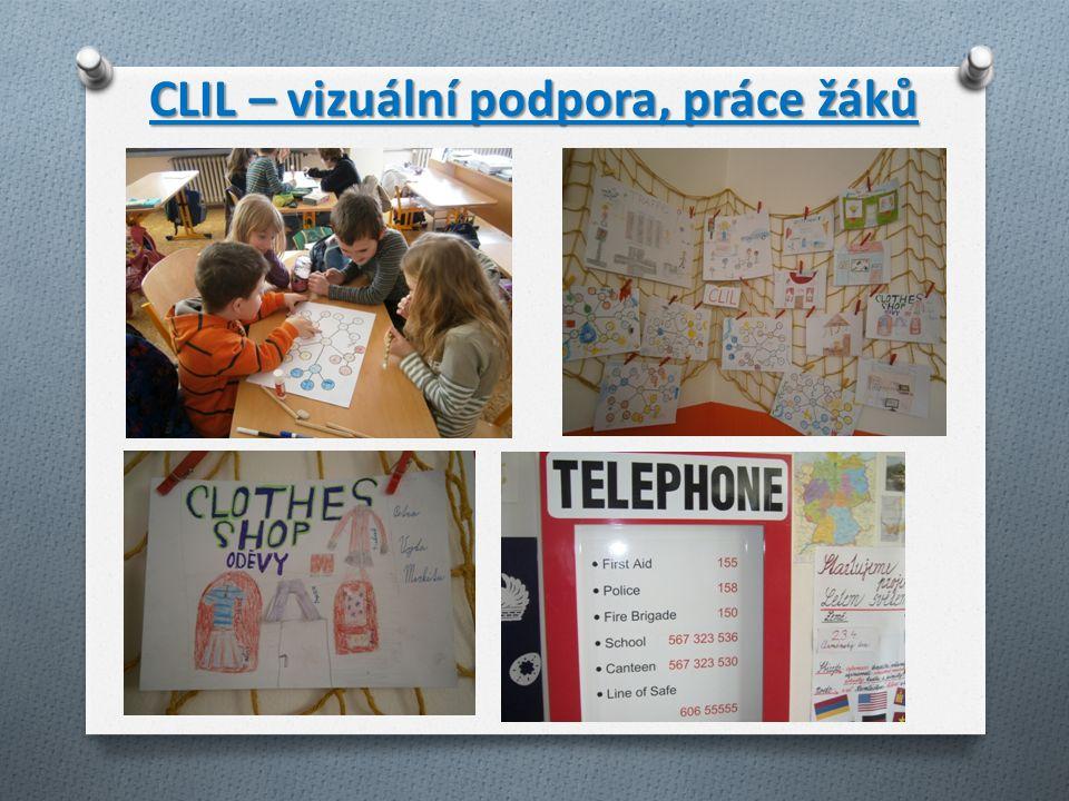 CLIL – vizuální podpora, práce žáků