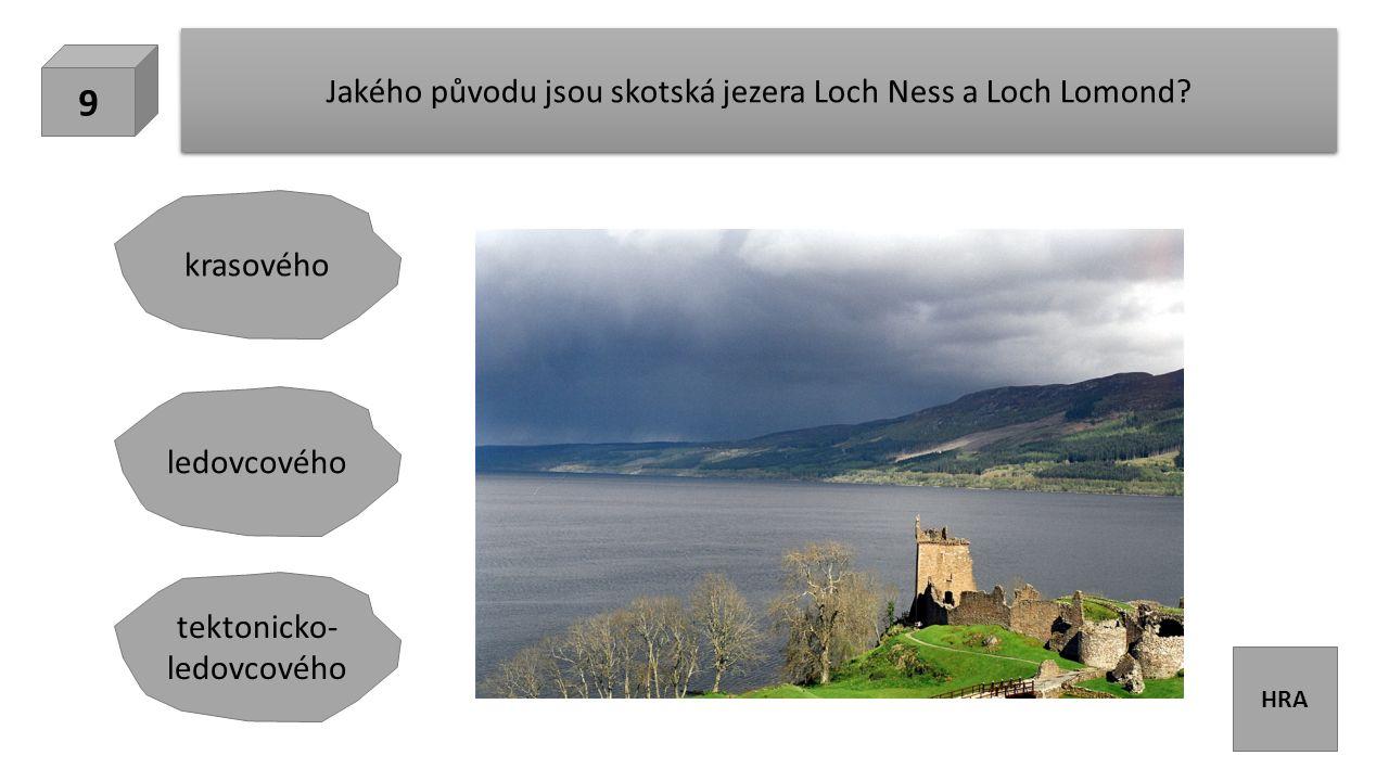 HRA Jakého původu jsou skotská jezera Loch Ness a Loch Lomond.