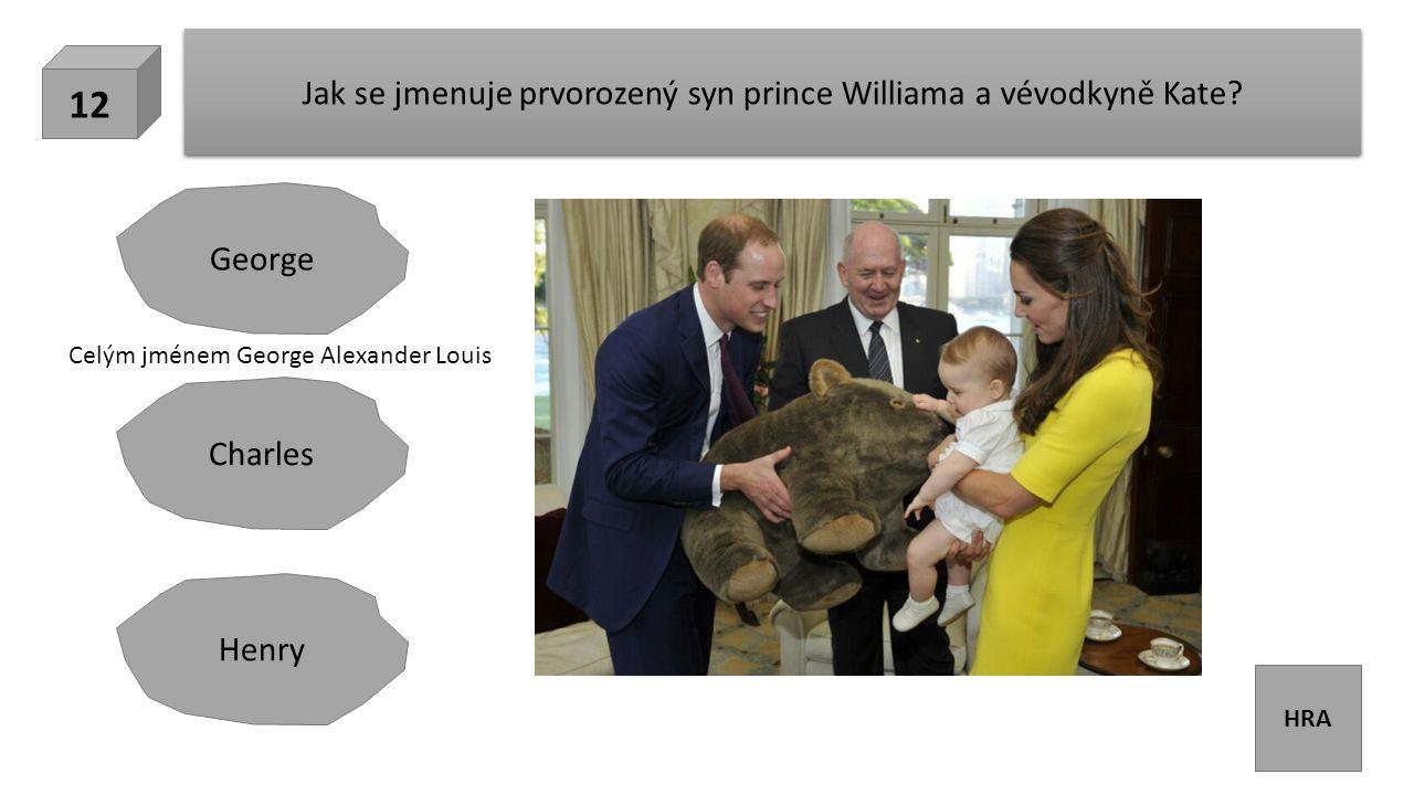 HRA Jak se jmenuje prvorozený syn prince Williama a vévodkyně Kate.