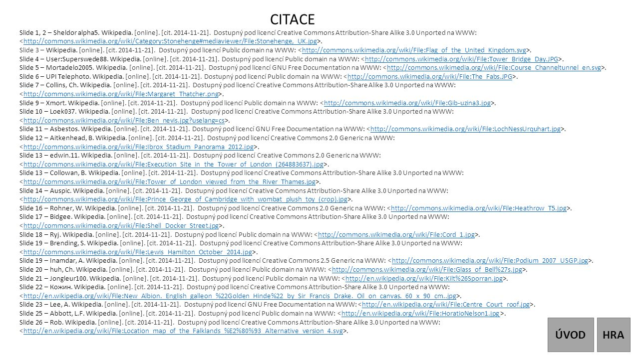 CITACE Slide 1, 2 – Sheldor alpha5. Wikipedia. [online]. [cit. 2014-11-21]. Dostupný pod licencí Creative Commons Attribution-Share Alike 3.0 Unported