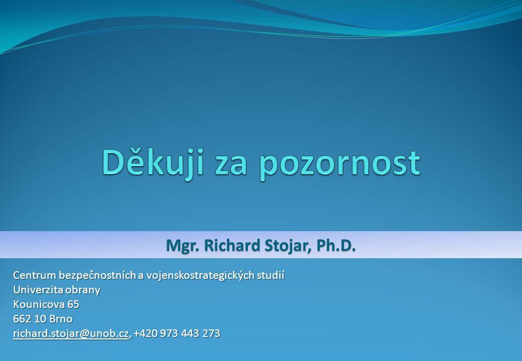 Mgr.Richard Stojar, Ph.D.
