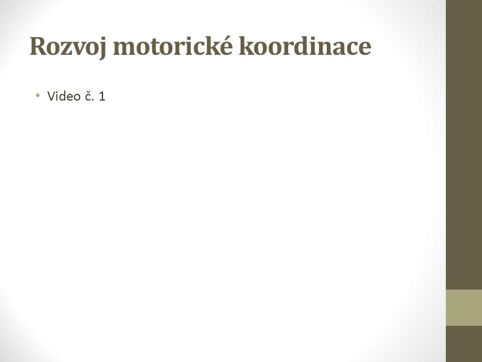 Rozvoj motorické koordinace Video č. 1