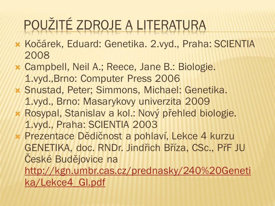  Kočárek, Eduard: Genetika.