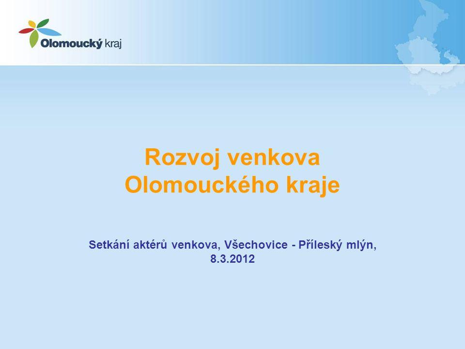 Rozvoj venkova Olomouckého kraje Setkání aktérů venkova, Všechovice - Příleský mlýn, 8.3.2012