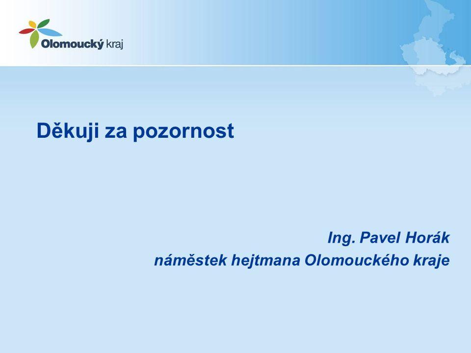 Ing. Pavel Horák náměstek hejtmana Olomouckého kraje Děkuji za pozornost