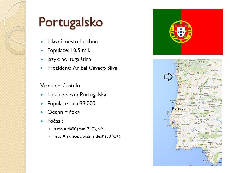 Portugalsko Hlavní město: Lisabon Populace: 10,5 mil.