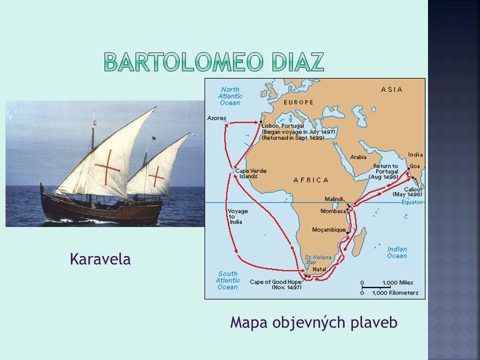 Karavela Mapa objevných plaveb