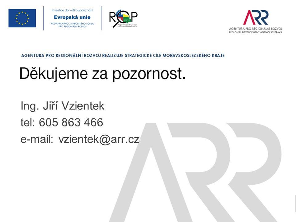 Ing. Jiří Vzientek tel: 605 863 466 e-mail: vzientek@arr.cz