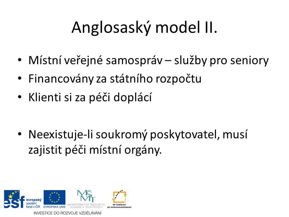 Anglosaský model II.