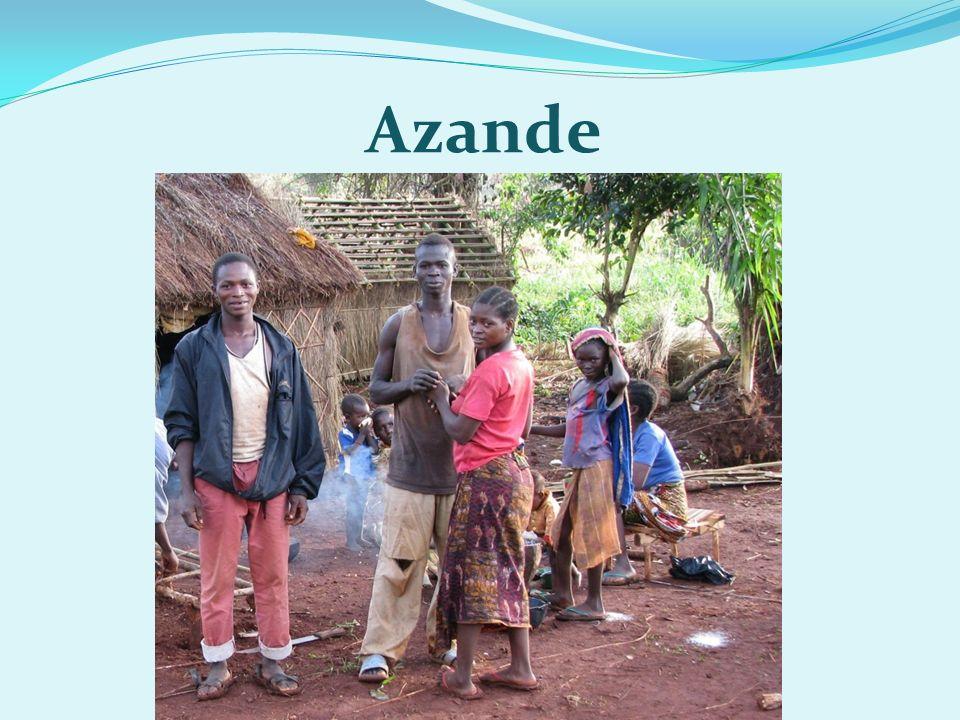  Azande či Azandové, jsou kmen obývající sever centrální Afriky  jejich populace je podle různých zdrojů odhadována na jeden až čtyři miliony jedinců  žijí především v severovýchodní části Demokratické republiky Kongo, v Jižním Súdánu a v jihovýchodní části Středoafrické republiky Azande