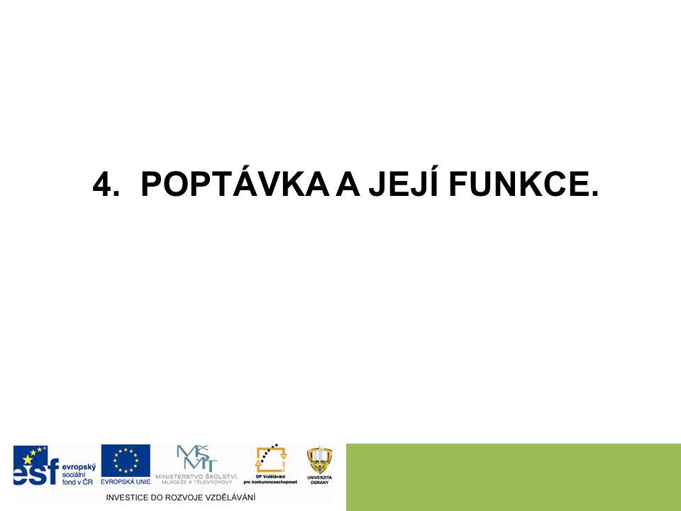 4. POPTÁVKA A JEJÍ FUNKCE.
