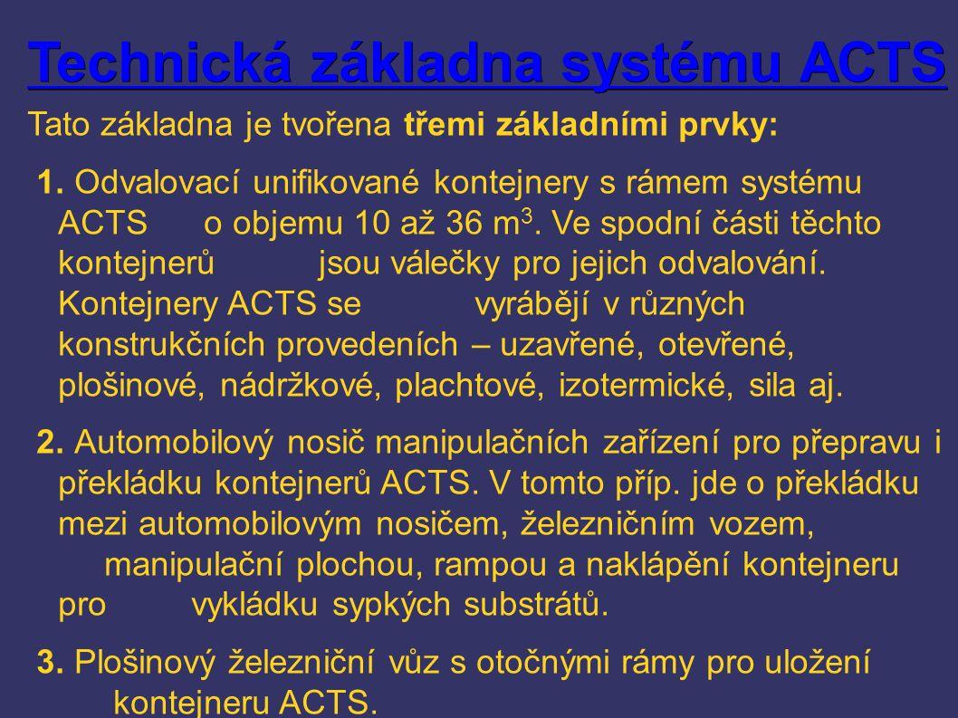 Technická základna systému ACTS Technická základna systému ACTS Tato základna je tvořena třemi základními prvky: 1.