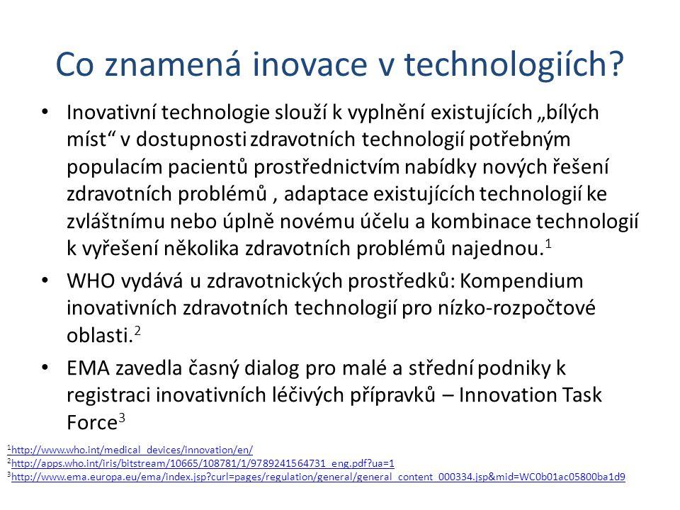 """Co znamená inovace v technologiích? Inovativní technologie slouží k vyplnění existujících """"bílých míst"""" v dostupnosti zdravotních technologií potřebný"""