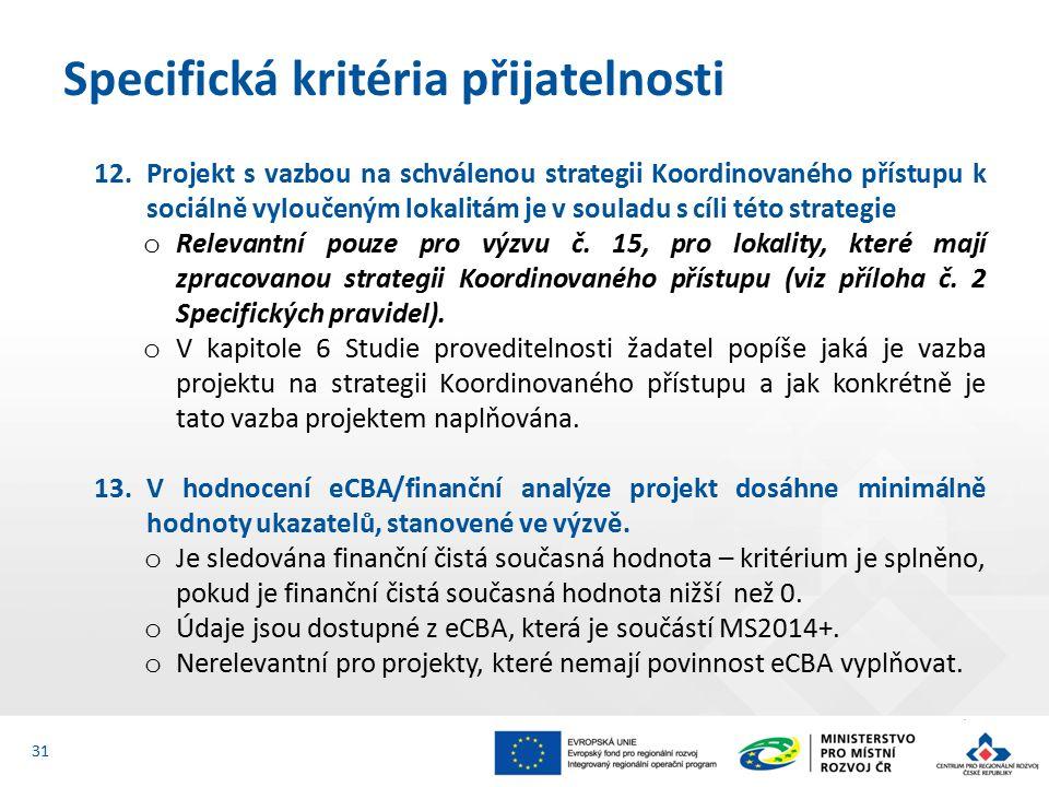 12.Projekt s vazbou na schválenou strategii Koordinovaného přístupu k sociálně vyloučeným lokalitám je v souladu s cíli této strategie o Relevantní pouze pro výzvu č.