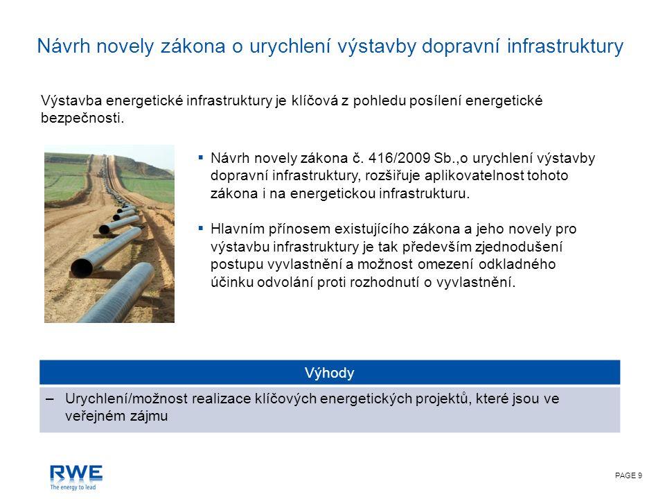 PAGE 9 Výstavba energetické infrastruktury je klíčová z pohledu posílení energetické bezpečnosti.