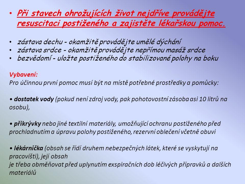 Obecné zásady předlékařské první pomoci ( dle materiálu zveřejněného na webu zpracovaného doc. Mudr. Danielou Pelcovou, CSc.) Při poskytování první po