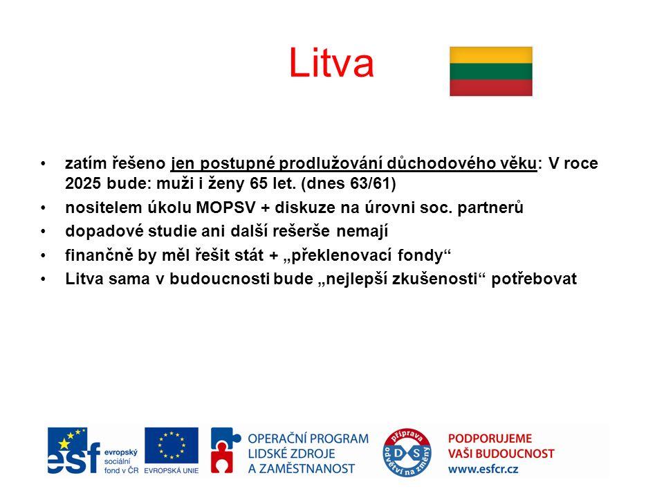 Litva zatím řešeno jen postupné prodlužování důchodového věku: V roce 2025 bude: muži i ženy 65 let.