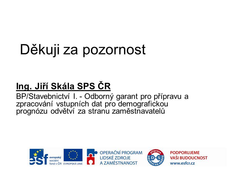 Děkuji za pozornost Ing. Jiří Skála SPS ČR BP/Stavebnictví I.