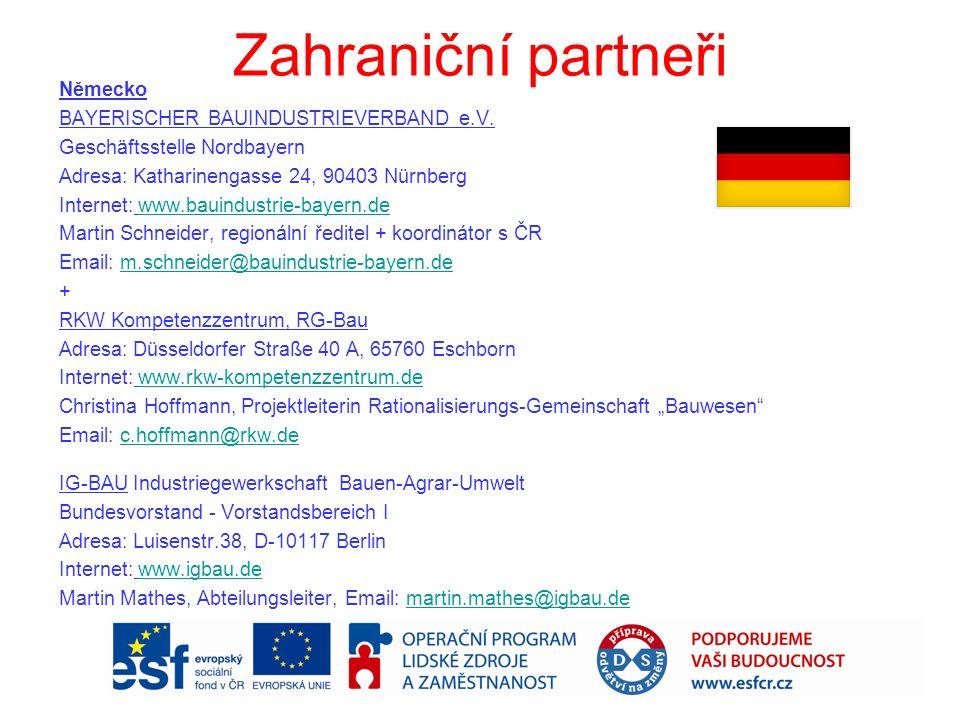 Zahraniční partneři Německo BAYERISCHER BAUINDUSTRIEVERBAND e.V.
