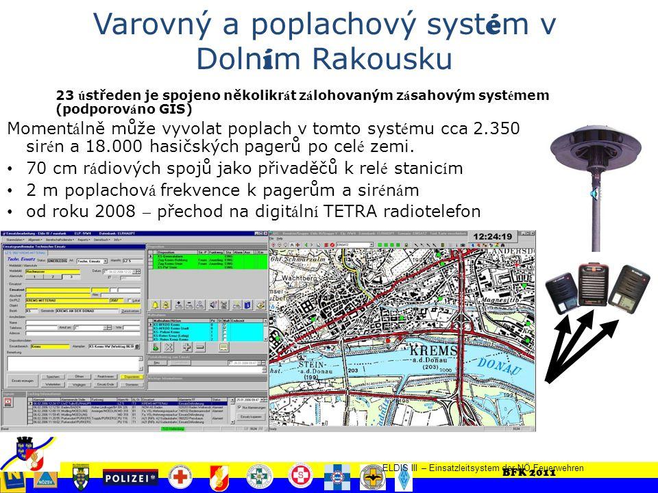 BFK 2011 Hasiči – nouzov é č í slo 122 23 jednotně vybavených hasičských poplachových ú středen pro př í pad katastrofy Norm á ln í služebn í provoz: