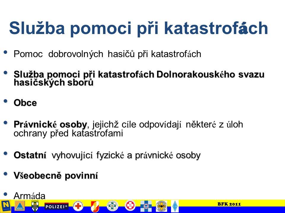 BFK 2011 Úřední vedení zásahu Úřad okresní správy (z.B.