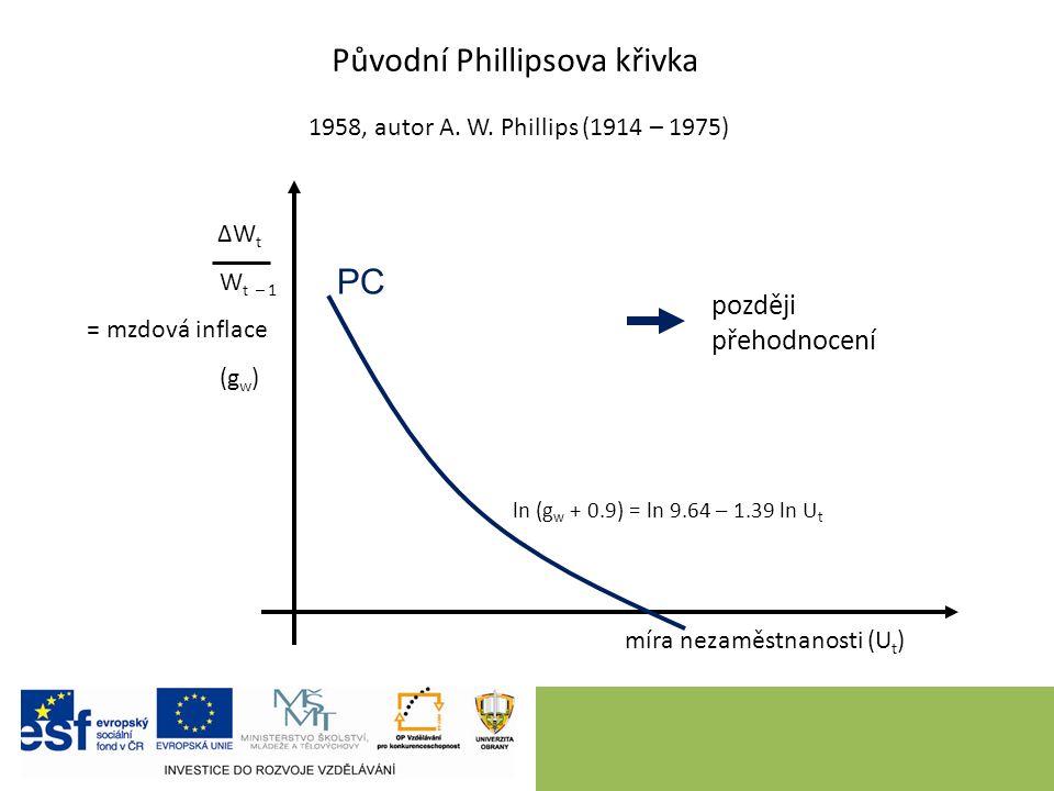 Soudobá interpretace: krátkodobá a dlouhodobá Phillipsova křivka 9 míra inflace (π) míra nezaměstnanosti (u) LPC u* SPC 1 SPC 2 při vyšší očekávané inflaci A B C D Podél SPC konstantní míra očekávané inflace.