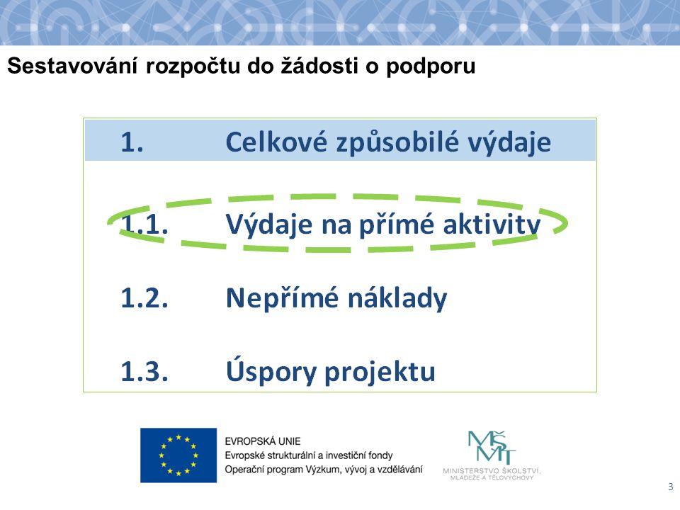 Způsob vykazování celkových způsobilých výdajů 4 Výzva: 7.4; PpŽaP-o: 8.6.2, 8.7.4.1, 8.7.4.3