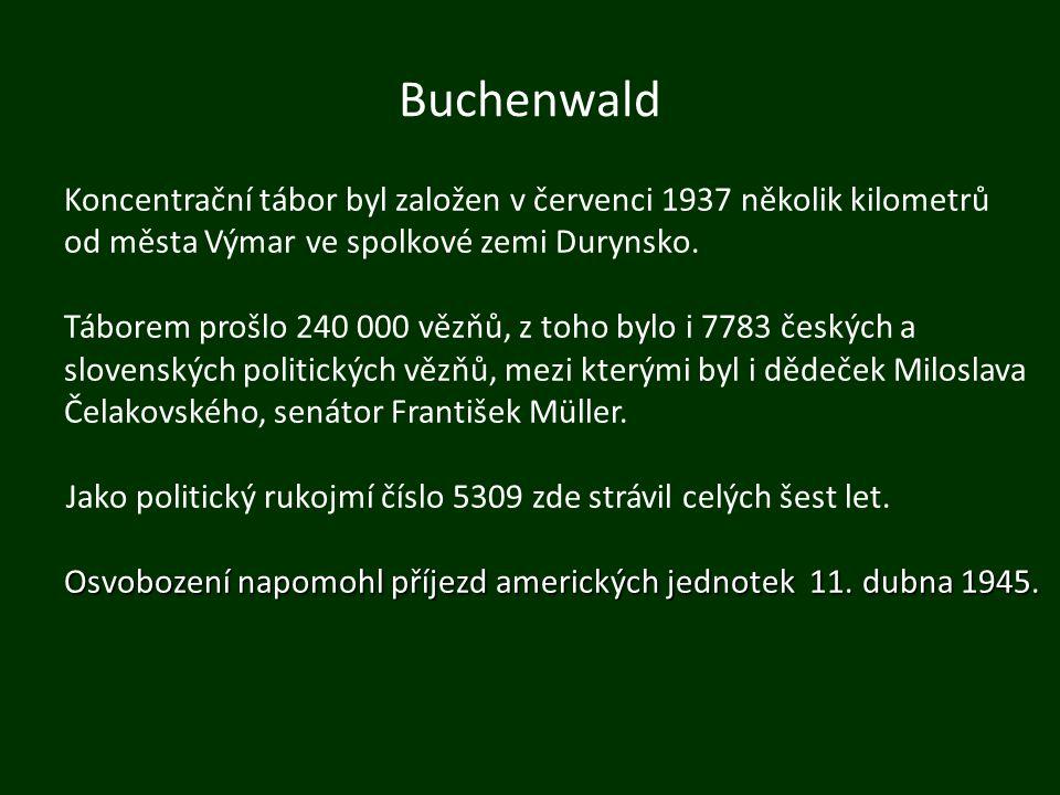 Buchenwald Koncentrační tábor byl založen v červenci 1937 několik kilometrů od města Výmar ve spolkové zemi Durynsko. Táborem prošlo 240 000 vězňů, z