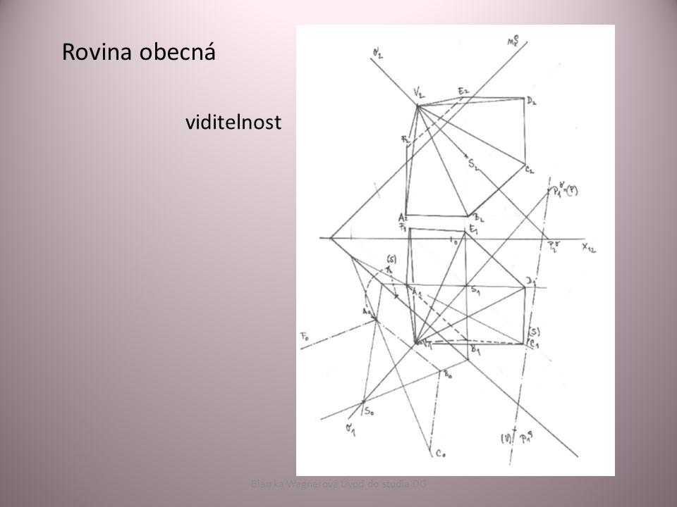 Rovina obecná viditelnost Blan ka Wagnerová Úvod do studia DG