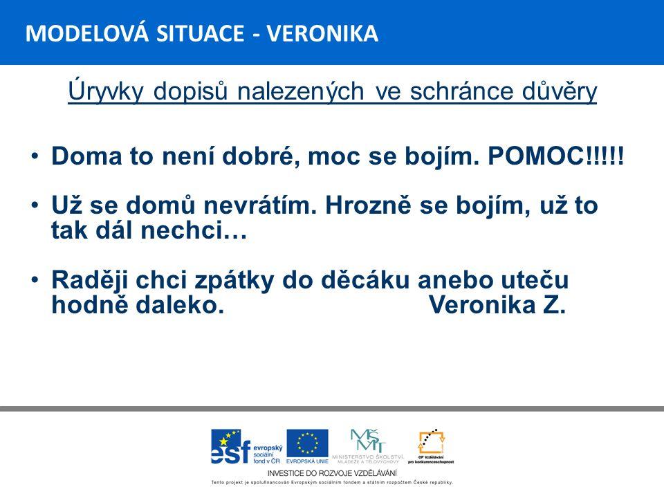 MODELOVÁ SITUACE - VIKI Vývoj situace U Viktora se objevuje slovní napadání spolužáků, náznaky výhrůžek smskami a na facebooku - řešeno pohovorem s dítětem (ty,ty,ty, příště budeš potrestán) Aktuálně proběhla rvačka v jídelně - Viki napadl spolužáka - řešeno napomenutím třídního učitele, doporučení k návštěvě P-centra Olomouc
