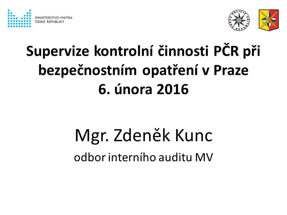 Supervize kontrolní činnosti PČR při bezpečnostním opatření v Praze 6.