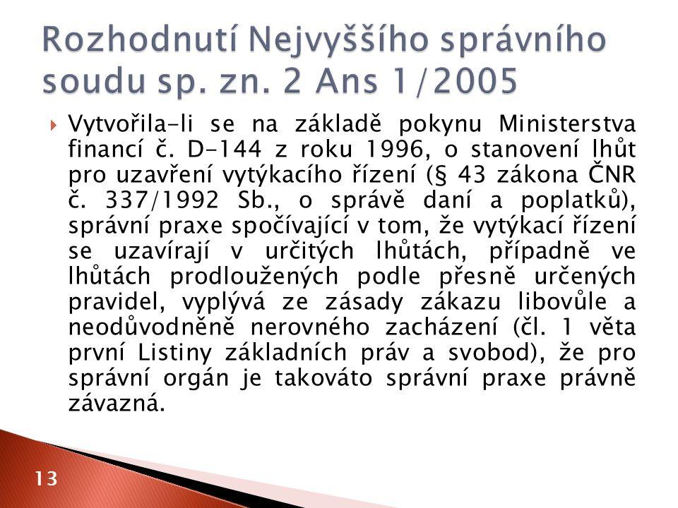  Vytvořila-li se na základě pokynu Ministerstva financí č.
