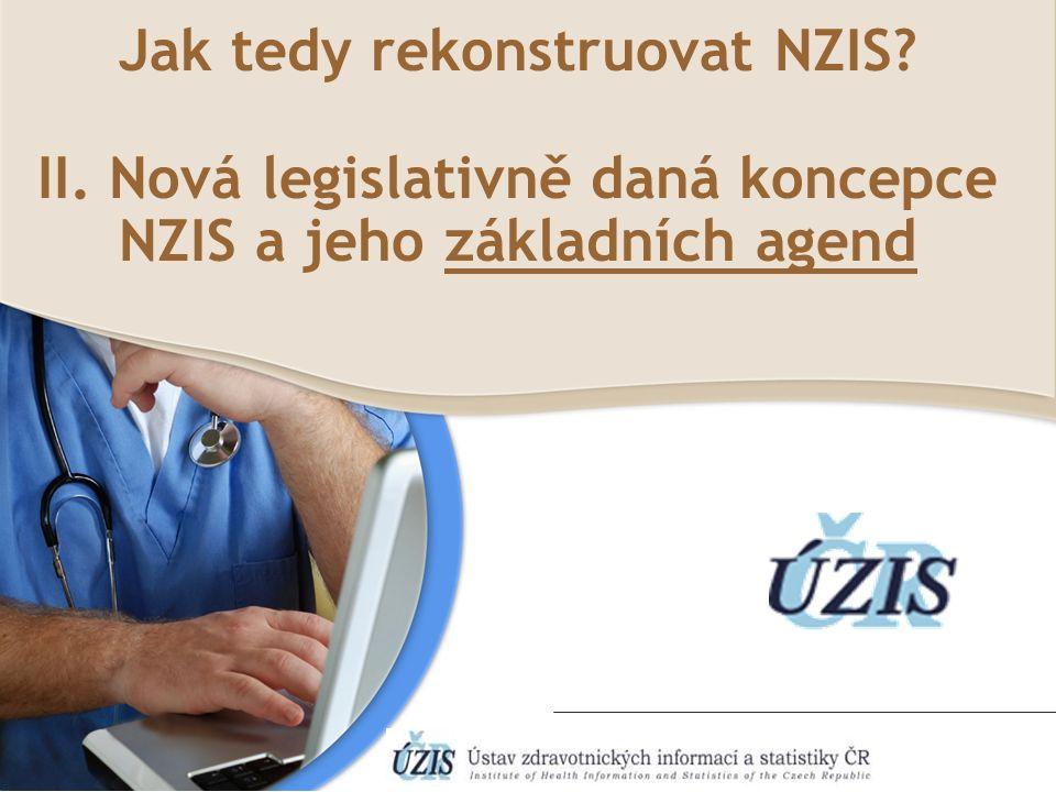 Jak tedy rekonstruovat NZIS II. Nová legislativně daná koncepce NZIS a jeho základních agend
