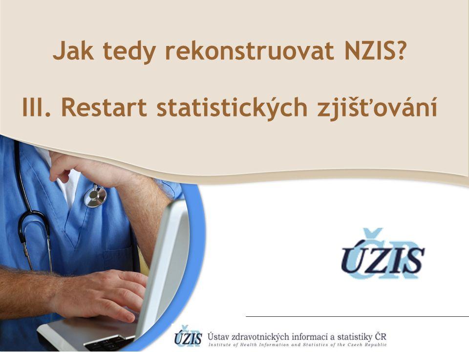 Jak tedy rekonstruovat NZIS III. Restart statistických zjišťování
