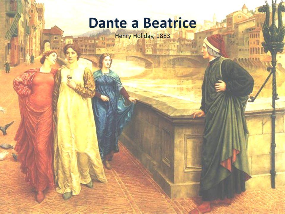 Dante a Beatrice Dante nahrazuje autoanalýzu zpodobněním ženy a jejího obdivuhodného vlivu na všechny, kteří se pohybují v její blízkosti.