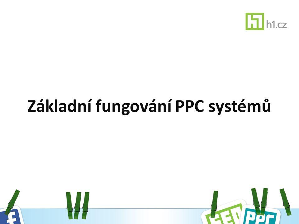 Základní fungování PPC systémů