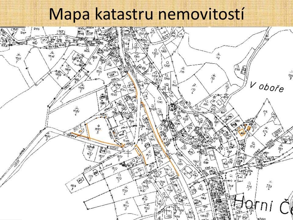 Mapa katastru nemovitostí