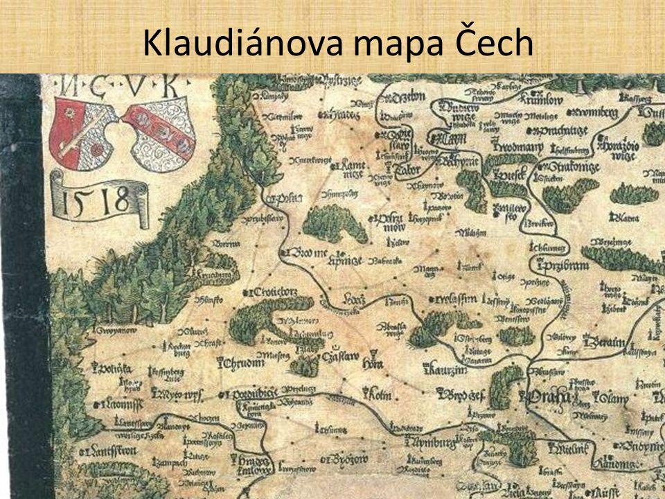Klaudiánova mapa Čech