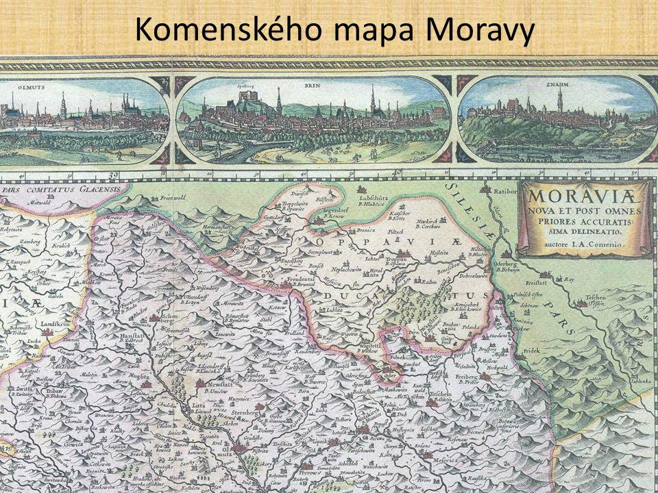 Komenského mapa Moravy