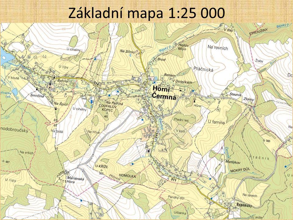 Základní mapa 1:25 000