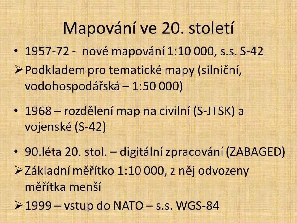 Mapování ve 20. století 1957-72 - nové mapování 1:10 000, s.s.