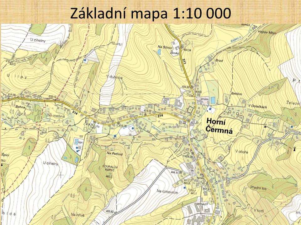 Základní mapa 1:10 000