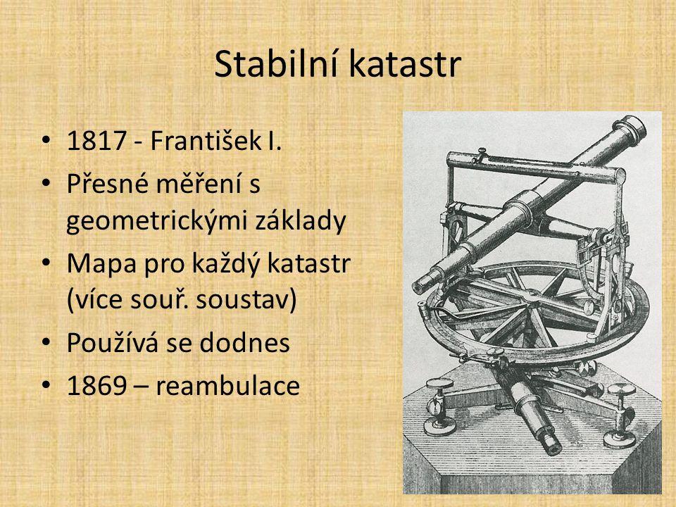 Stabilní katastr 1817 - František I.