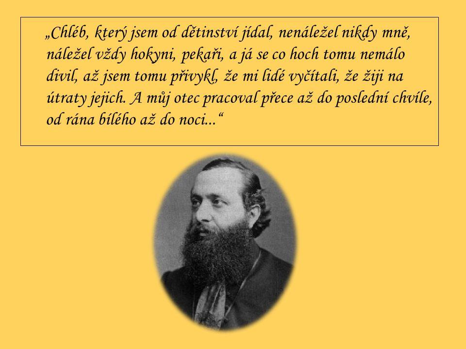  od roku 1845 studoval na malostranském gymnáziu  od roku 1850 na Akademickém gymnáziu, 1853 maturoval  po maturitě se pokoušel na nátlak otce studovat práva, pak filozofii, studia nedokončil  krátkou dobu se živil jako prozatímní profesor na gymnáziu, kde byl jeho žákem např.
