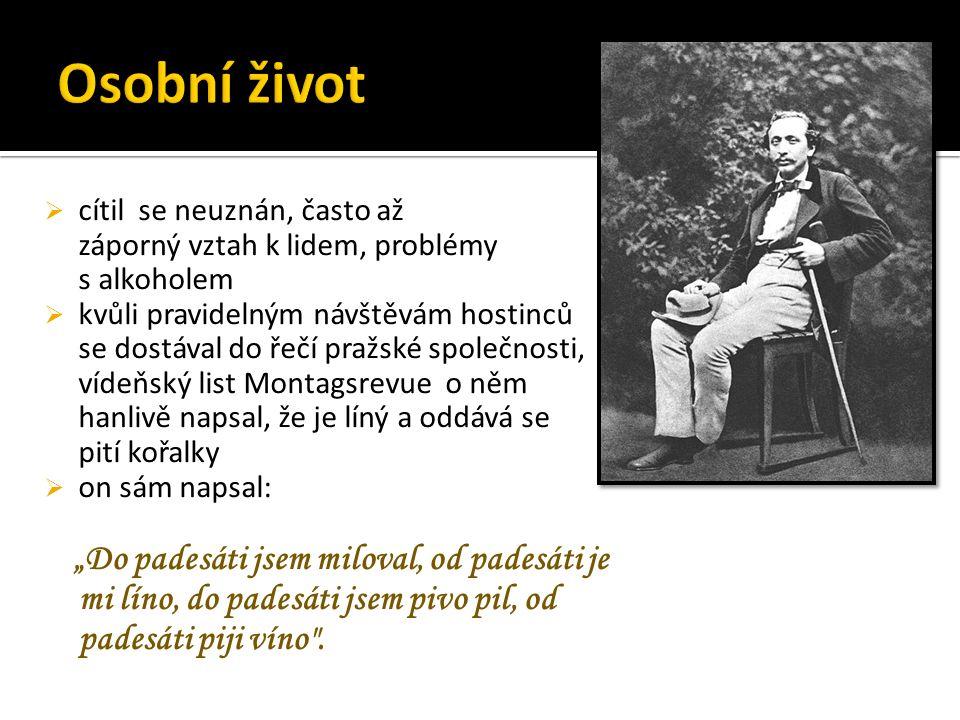  1879 onemocněl zánětem žil, postižen nemocí pohybového ústrojí  během 10ti let 3x operován  zemřel na rakovinu tlustého střeva
