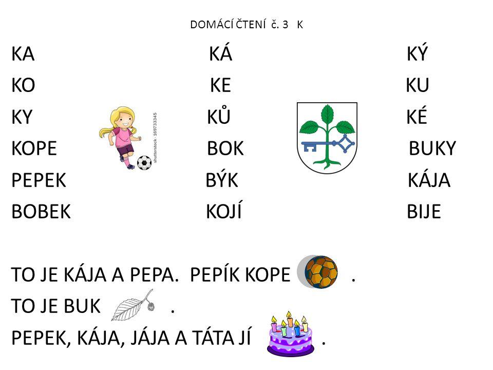 DOMÁCÍ ČTENÍ č.