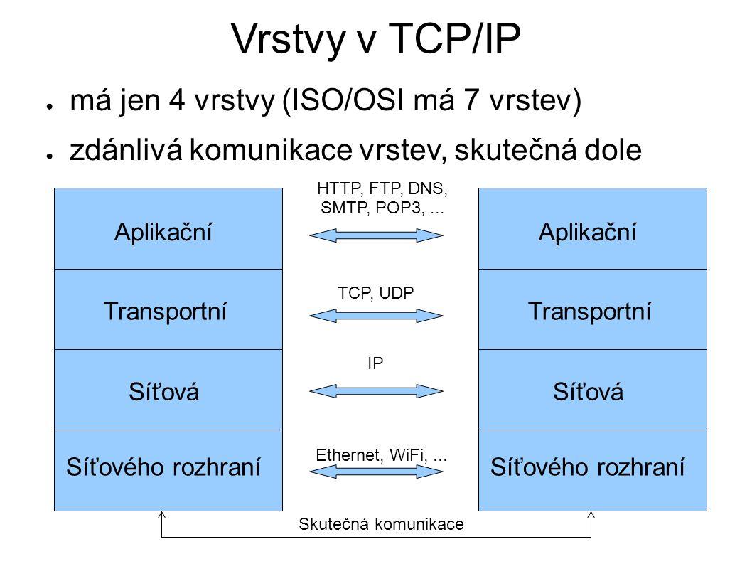 Implementace TCP/IP – 1 ● poprvé v 4.2BSD Unixu (1983) ● SVR4 Unix od AT&T až v roce 1990 ● součást jádra OS (tzv.
