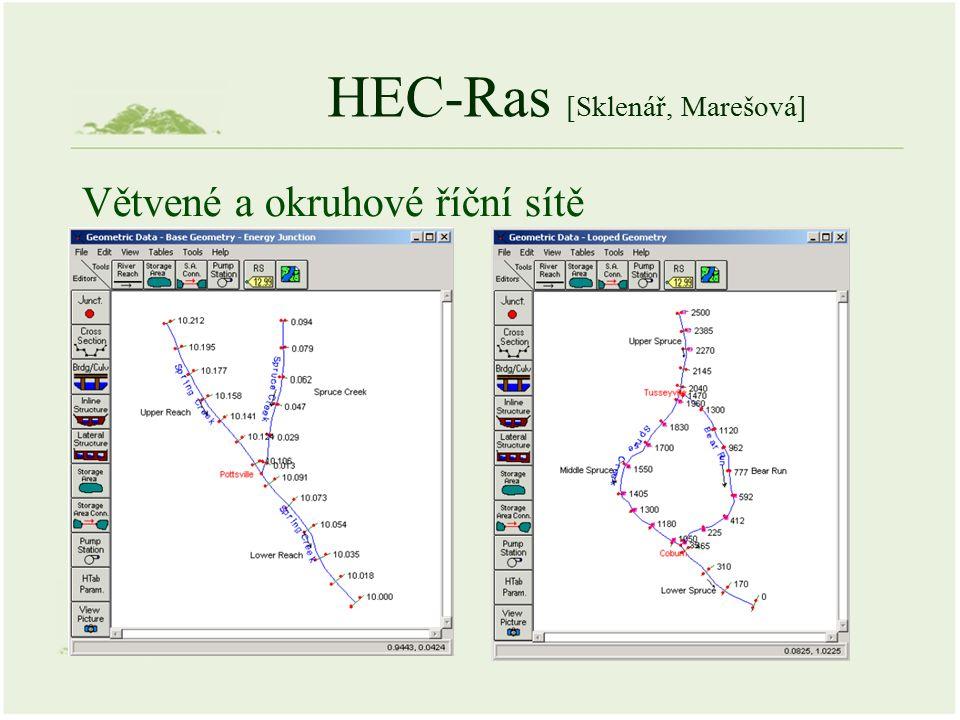 HEC-Ras [Sklenář, Marešová] Větvené a okruhové říční sítě