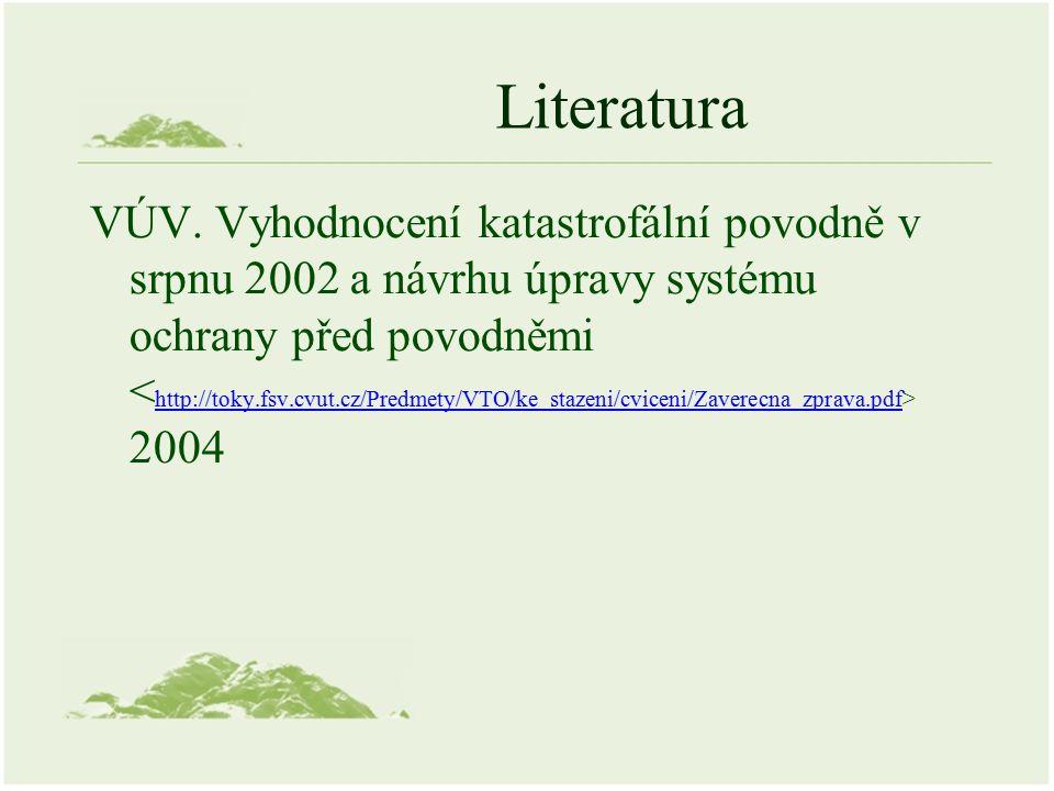 Literatura VÚV.