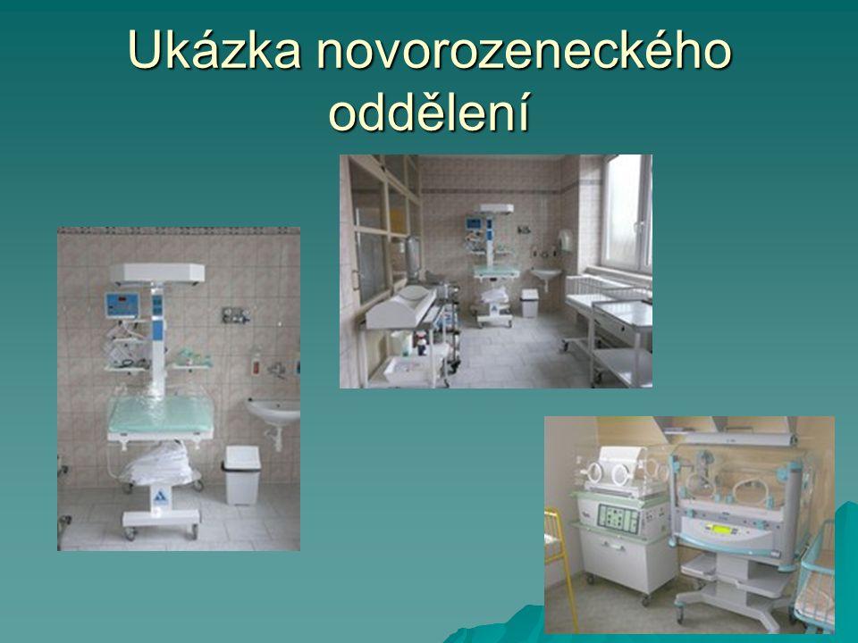Ukázka novorozeneckého oddělení